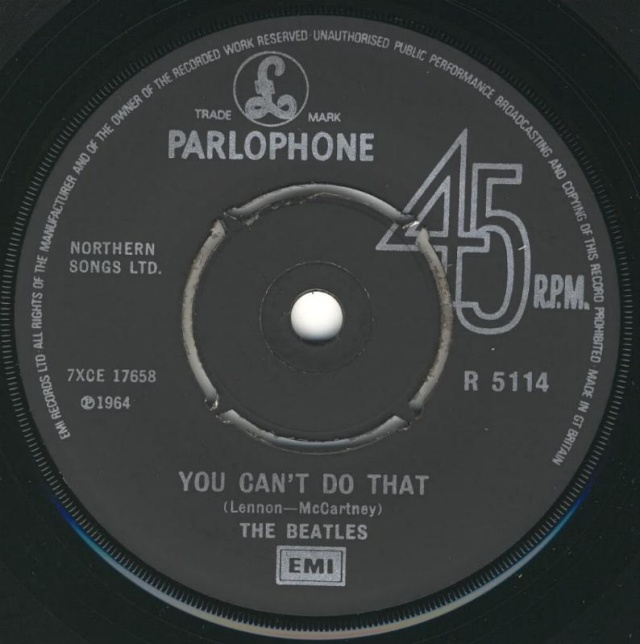 Can't Buy Me Love/You Can't Do That R5114-18