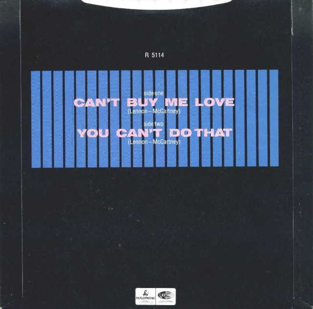 Can't Buy Me Love/You Can't Do That R5114-20