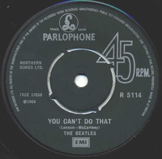 Can't Buy Me Love/You Can't Do That R5114-22