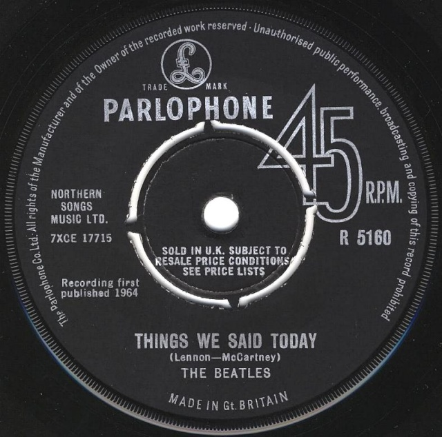 A Hard Day's Night/Things We Said Today R5160-11