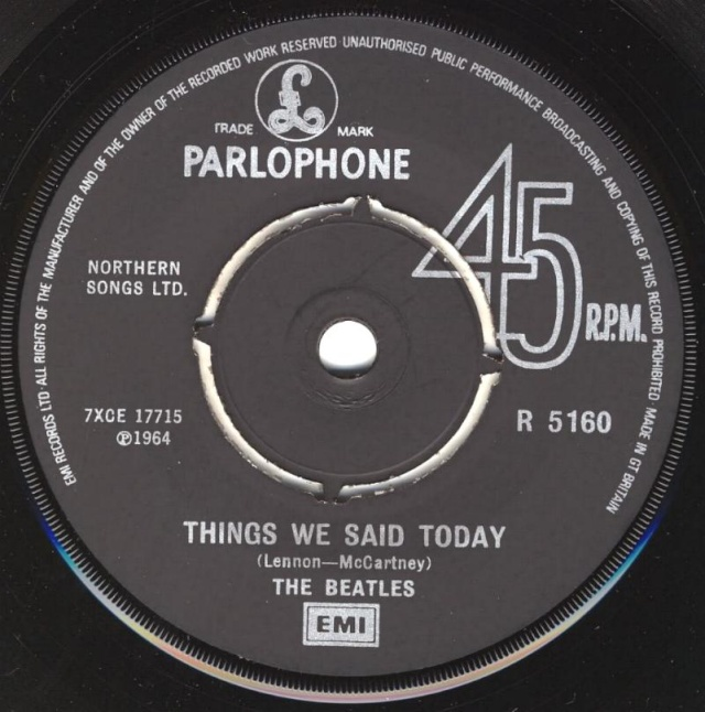 A Hard Day's Night/Things We Said Today R5160-15