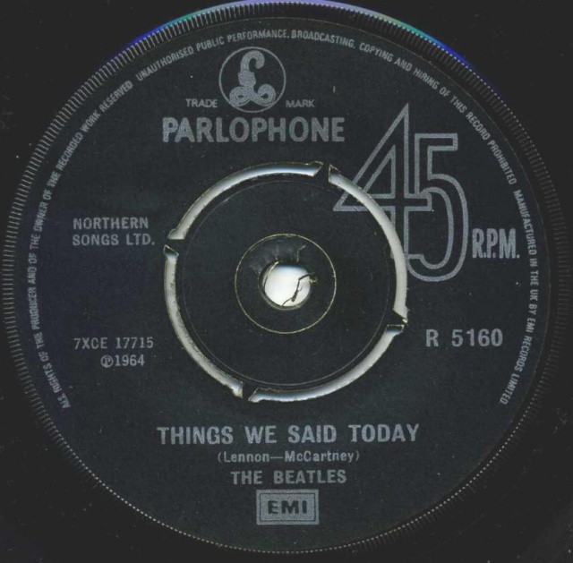 A Hard Day's Night/Things We Said Today R5160-19