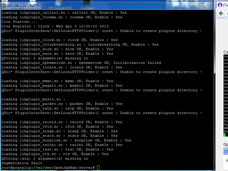 [Tuto] installation d'OpenJabNab sur un Pogoplug Et5lan10