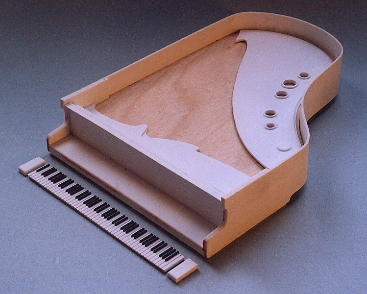 Klavier (Flügel) Scratchbuild Bau_410
