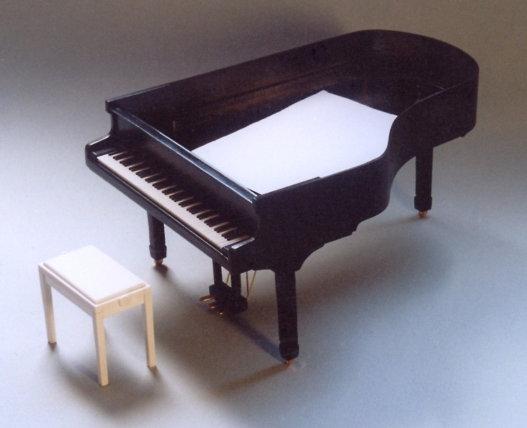 Klavier (Flügel) Scratchbuild Bau_710