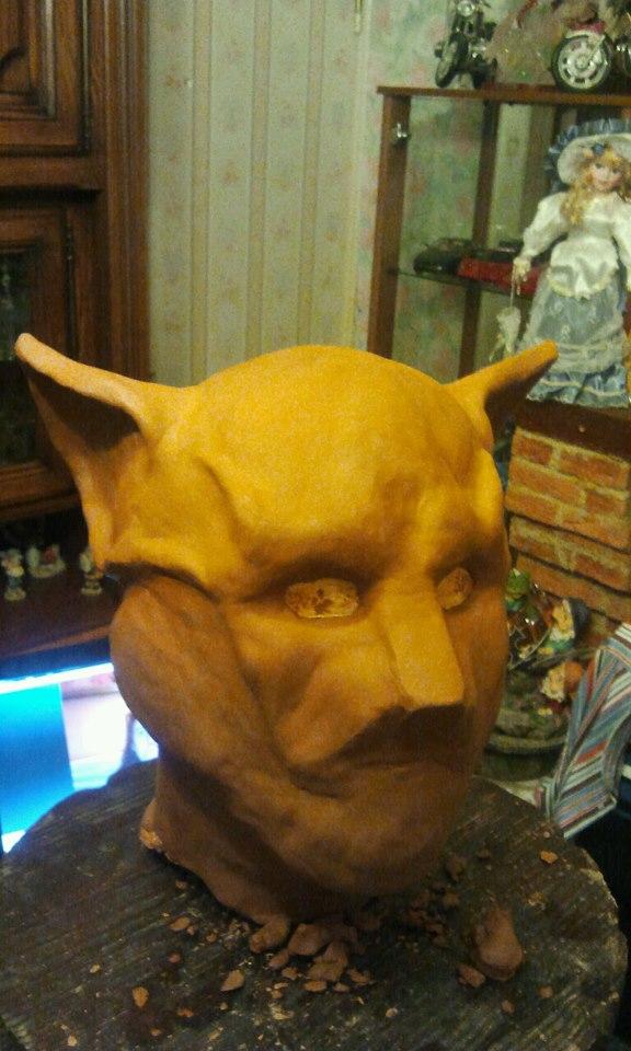 Ma premiére sculpture et réalisation d'un masque en latex  11157_10