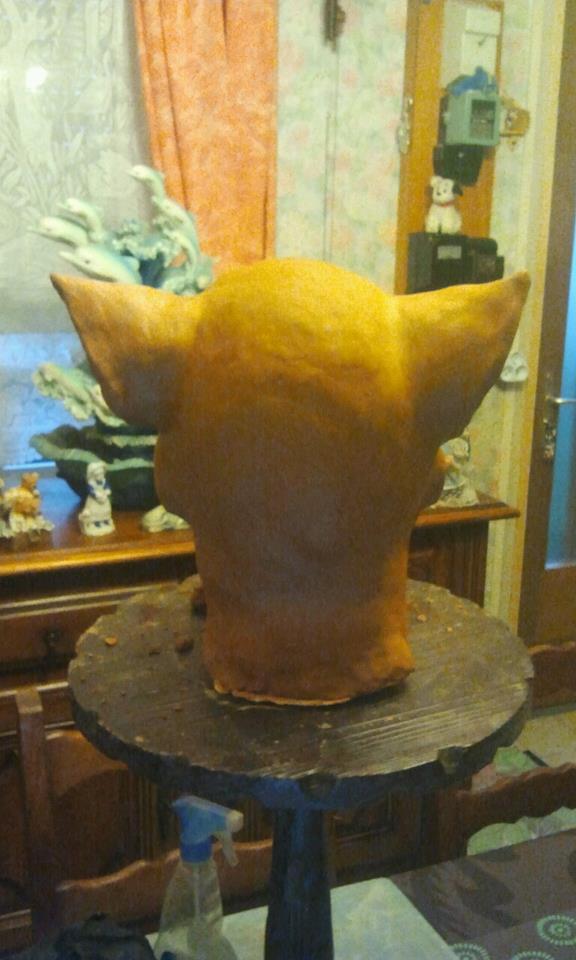 Ma premiére sculpture et réalisation d'un masque en latex  11389_10