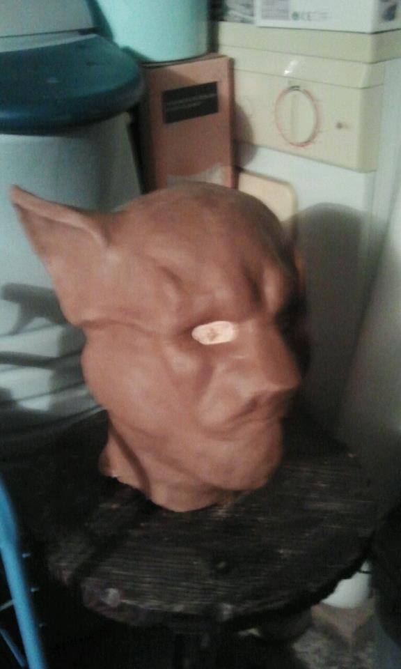 Ma premiére sculpture et réalisation d'un masque en latex  13062_10