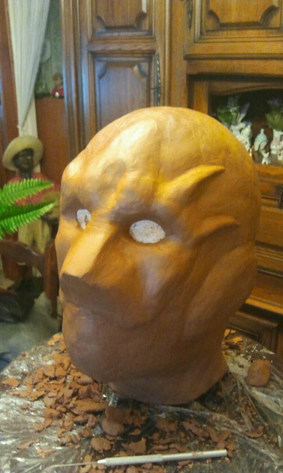 Ma premiére sculpture et réalisation d'un masque en latex  18084_10