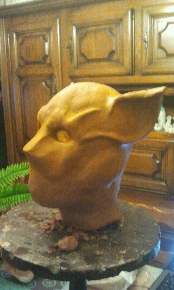 Ma premiére sculpture et réalisation d'un masque en latex  53973910