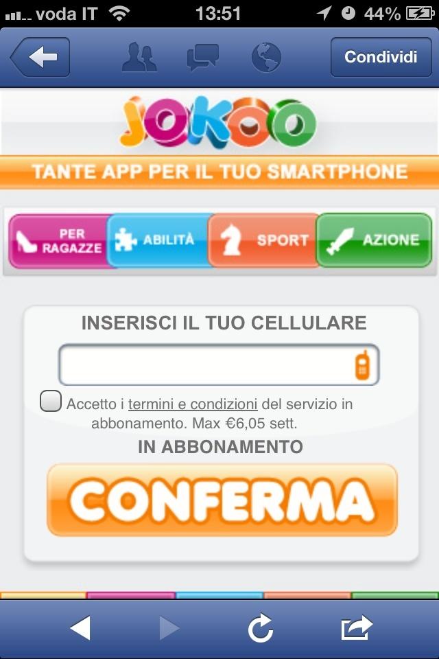 redirect a pubblicità nella versione mobile Foto10