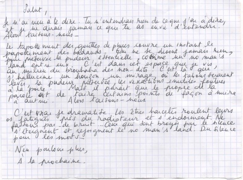 Les lettres inocentes Lettre13
