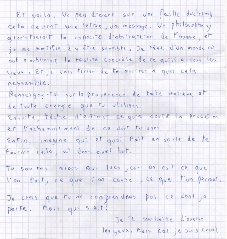 Les lettres inocentes Lettre15