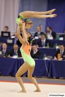 Gym acrobatique, Claire Philouze et Léa Roussel  Duo_fe10