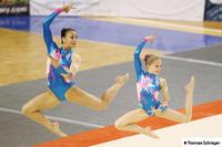 Gym acrobatique, Claire Philouze et Léa Roussel  Duo_fe11