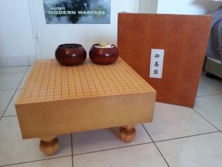 vente goban SHIN KAYA et pierres YUKI 111