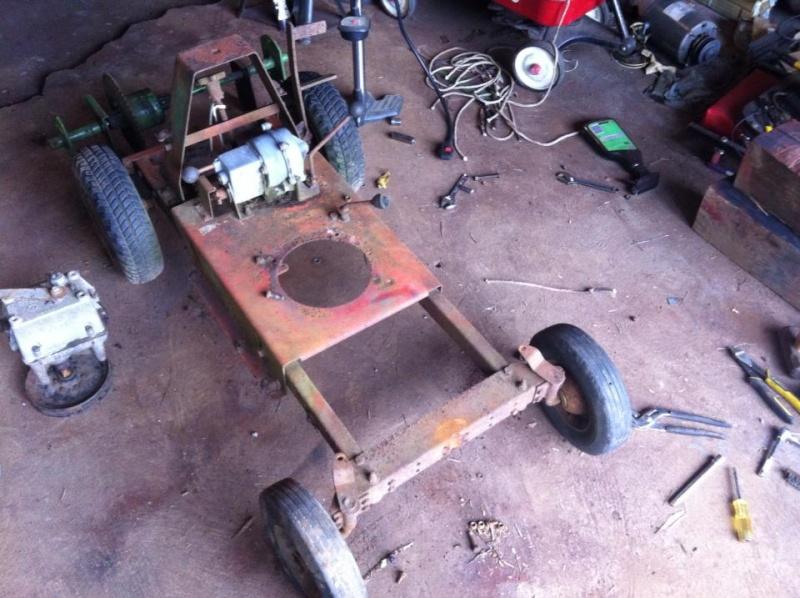 60's springfeild mini tractor speed mower.  11872011