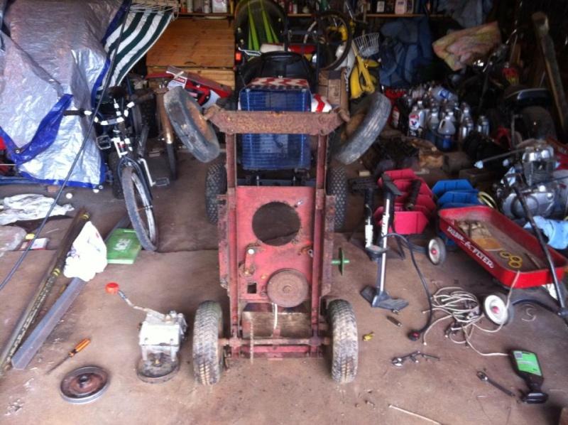 60's springfeild mini tractor speed mower.  52172310