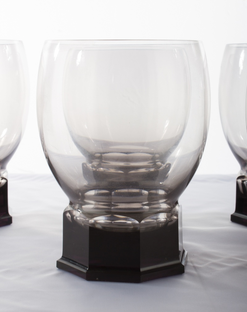 Smoked Glass Goblets Octagon Base who is the manufacturer? Img_2211