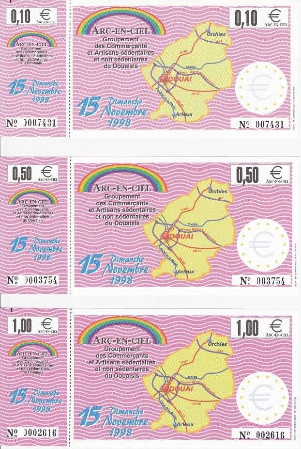 Premiers billets en Ecu/Euro Douai112