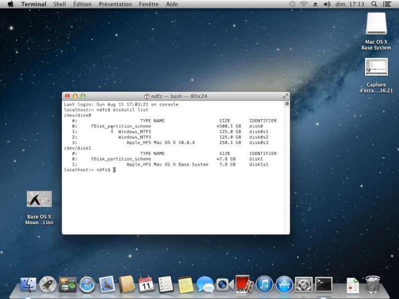 Tuto: OS X 10.8.4 sur  HP DV6 3075sf.  - Page 2 Captur17