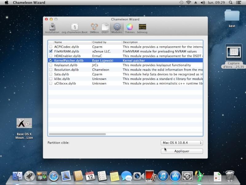Tuto: OS X 10.8.4 sur  HP DV6 3075sf.  - Page 2 Captur19