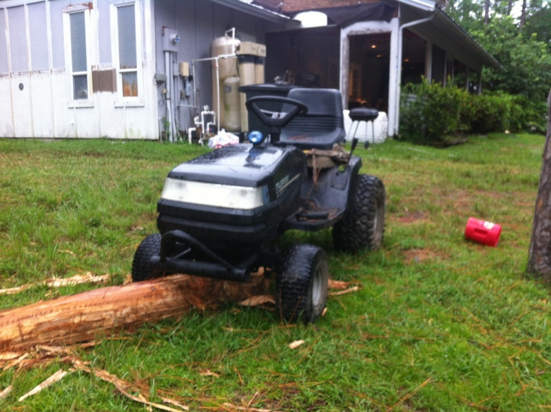 ideas on how to put a front bash bar on the front of this mower? Image21