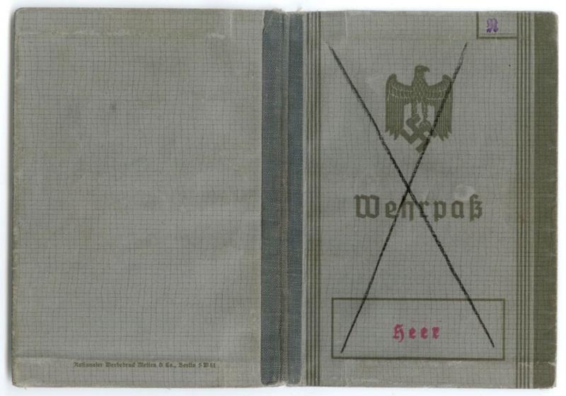 Wehrpass 5 Pz regt 7 KIA CALAIS Herman10