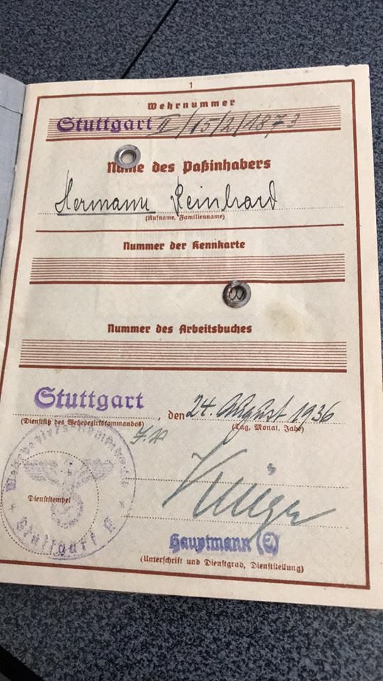 Wehrpass 5 Pz regt 7 KIA CALAIS Herman18