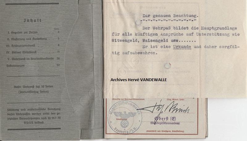 Wehrpass d'un leutnant z See KIA Sternb10