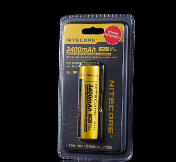 Batterie Nitecore NL189 18650 - 3400mAh Août 2013 340011