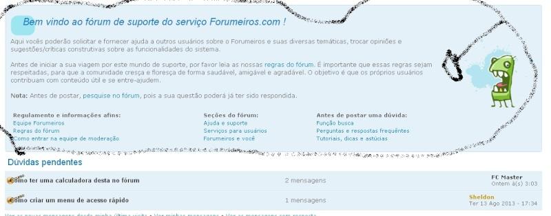 Mensagem de homepage como o FdF Imagem13