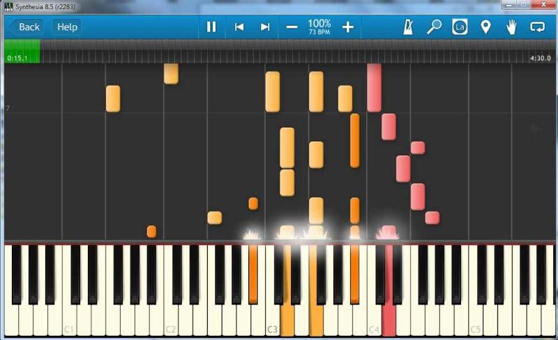 SYNTHESIA LECTEUR MIDI Synthe13