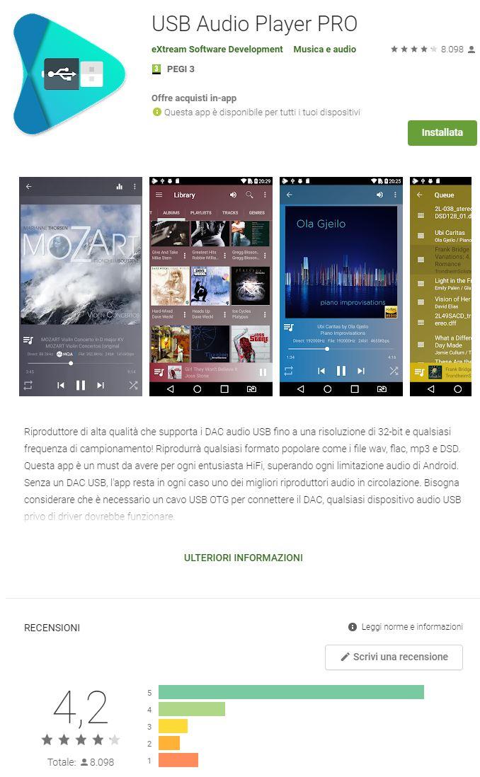 In mobiltà: player android e dac usb autoalimentato (NO Dap) Uapp11