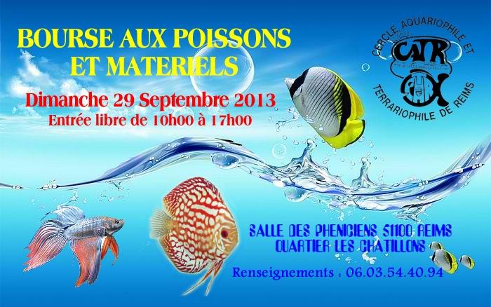 REIMS(51)-BOURSE aux POISSONS et OISEAUX , 29 Septembre 2013 Affich11