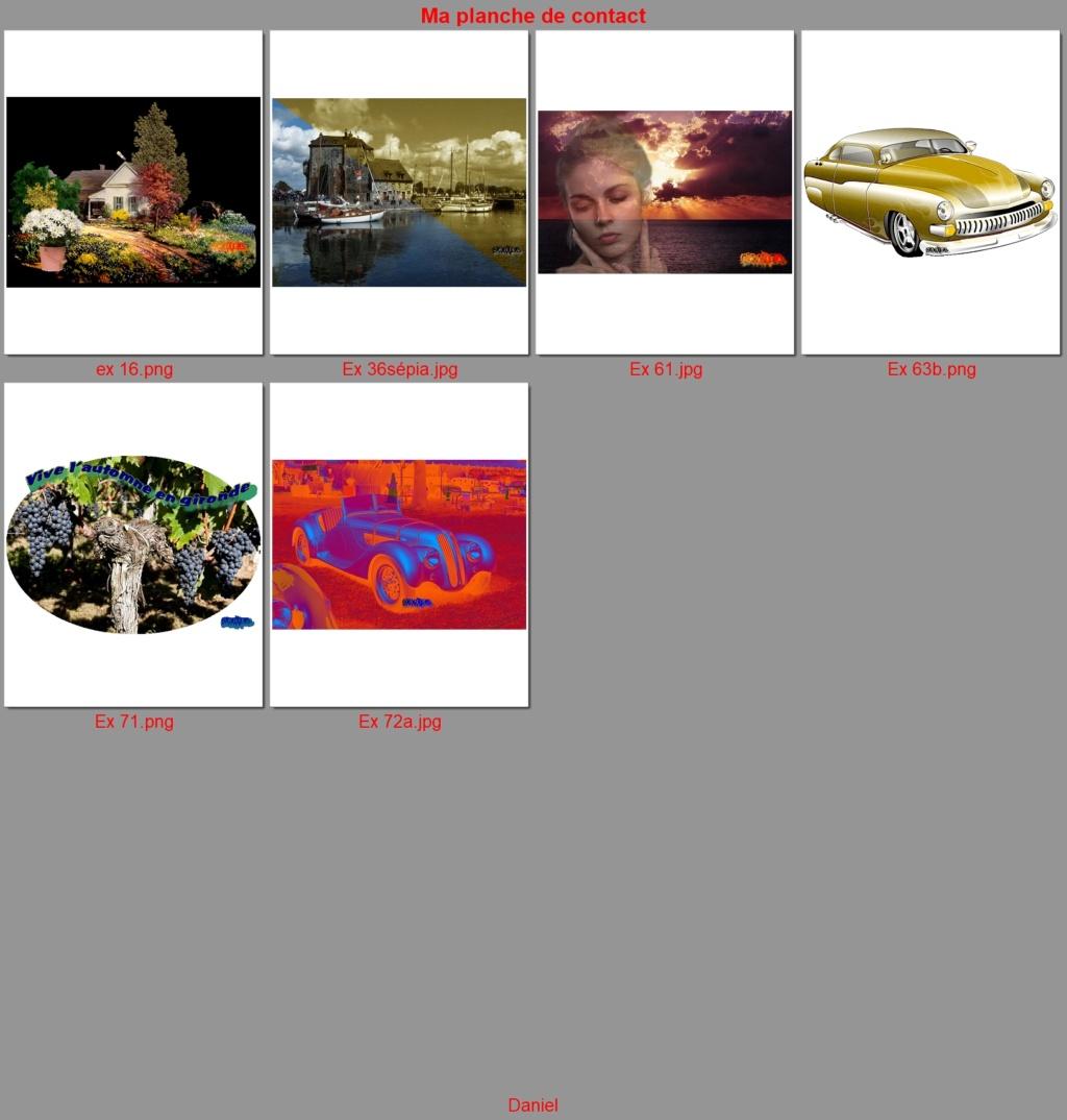 """N°78 PFS """"  planche contact d'une série de photos """" Ex_7810"""