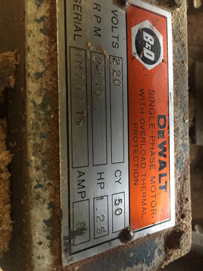 scie radial dewalt arm saws type M210 00510