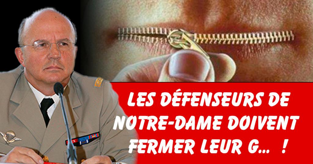 Insulte grauite d'un Général envers l'architecte de N.D de Paris Mail13