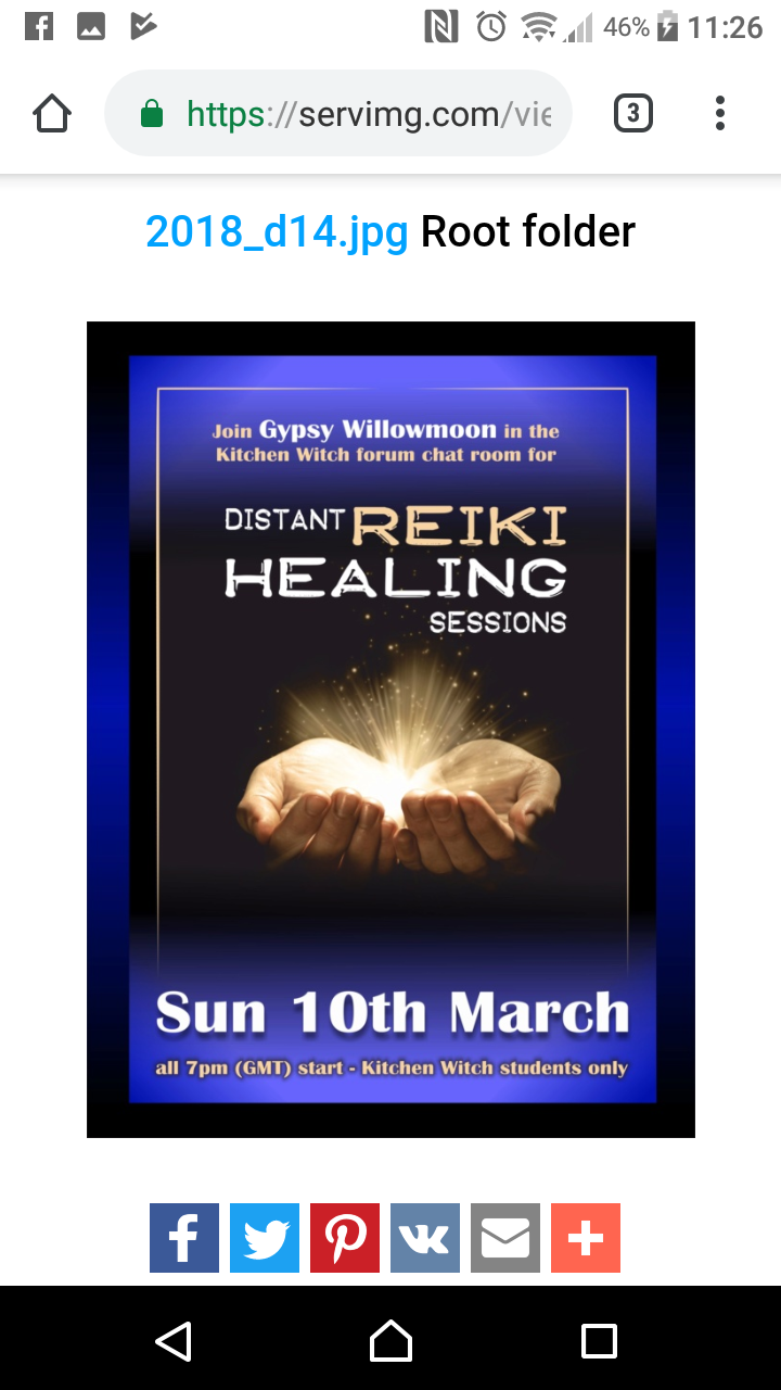 Distant Reiki March in the Chatroom. Screen10