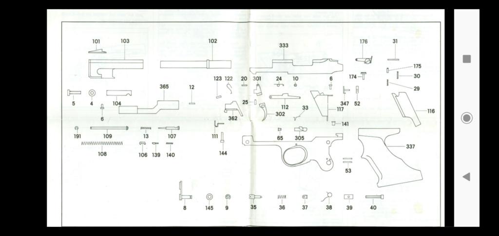 Cassé tige guide ressort sur Domino SP 602 Screen16