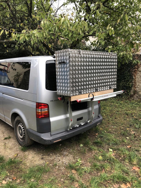 Caisse aluminium sur porte vélo  45a20810