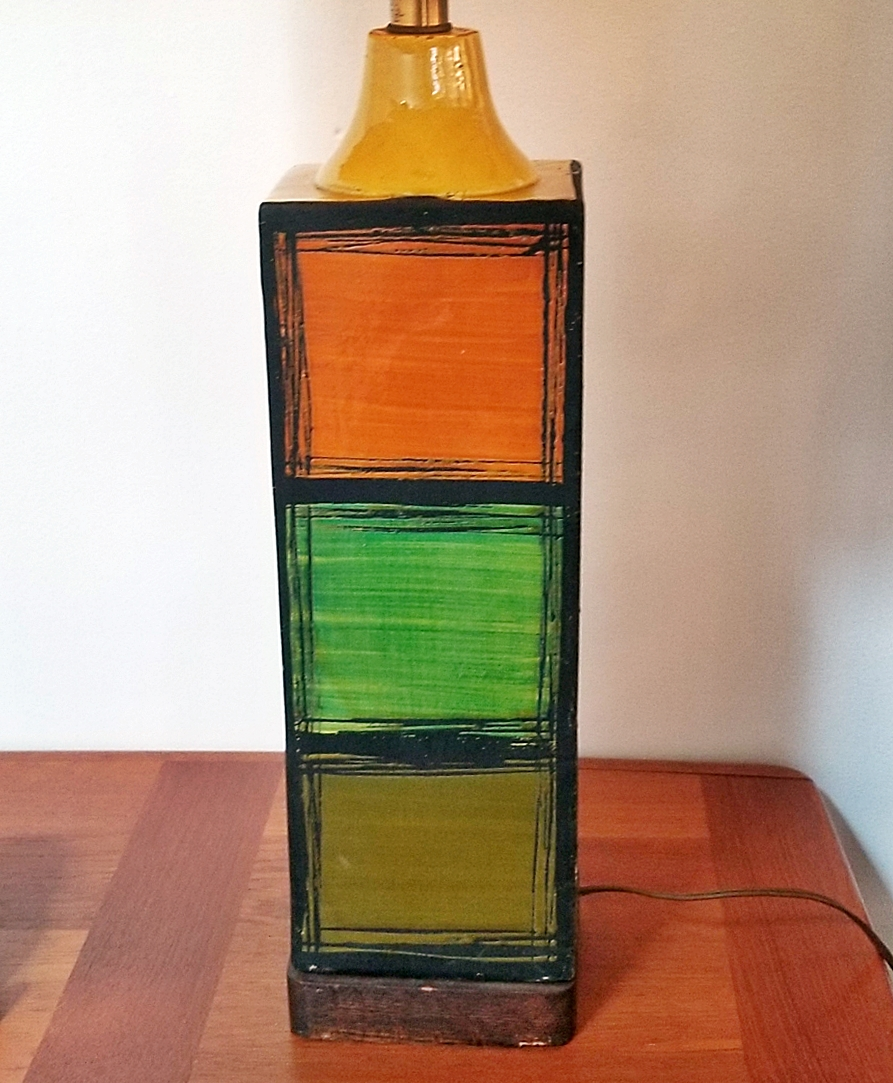 MCM Pottery Lamp By Ivo De Santis for Gli Etruschi, Italy  Resize10