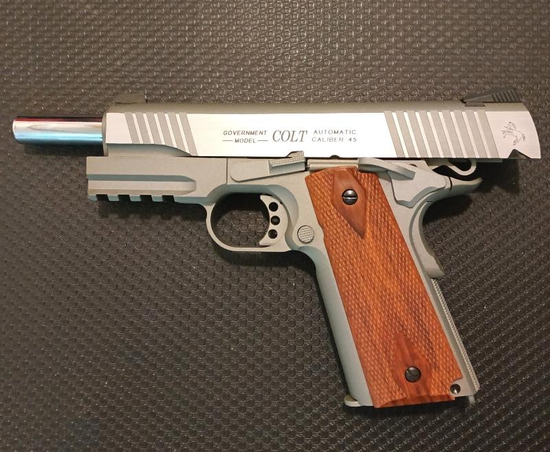 Achat plaisir vraiment satisfaisant. Cybergun Colt 1911 rail gun stainless Colt1912