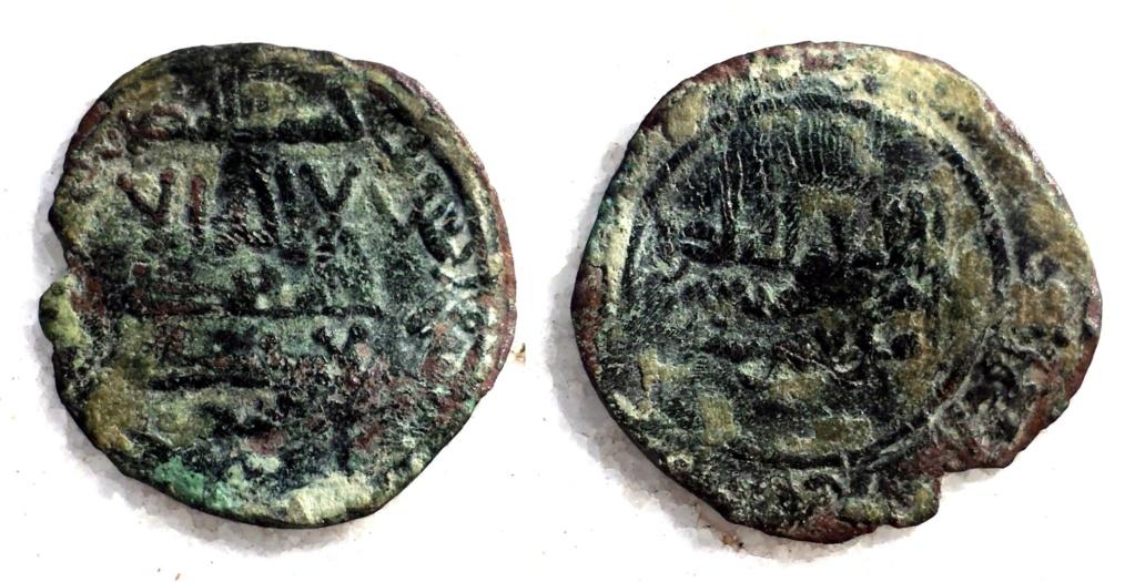 Dinar falso de epoca de Abdarramán III, 343 y 346 a 350 H 13da0910