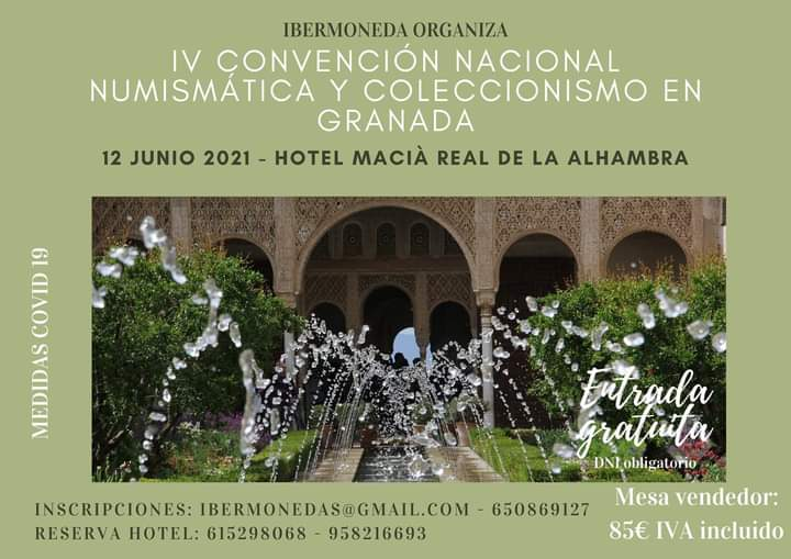 IV CONVENCIÓN NUMISMÁTICA - GRANADA 18748010