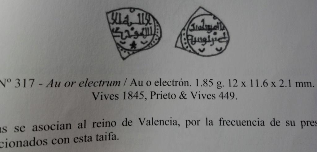 Fracción de dinar en electrón de Alí ben Yusuf, Francés 317 2019-041