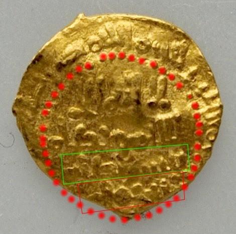 Fracción de dinar de Hixam II, ¿al-Ándalus, 403 H? 624_a_11