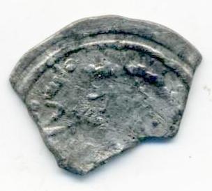 Fragmento de dírham de Abderramán III, ¿343 H, Medina Azahara? Anv01210