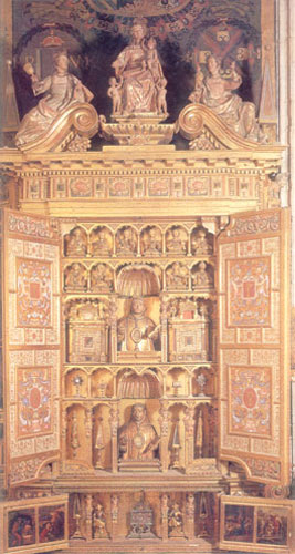Capilla Real de Granada, tumba de los Reyes Católicos Retabl10
