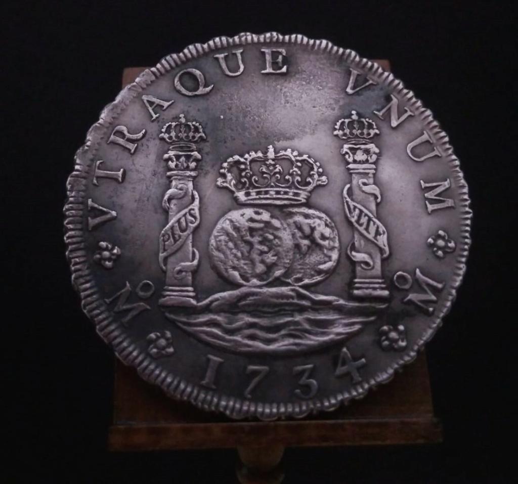 Real de a 8 columnario, 1734, ceca de México. 16116710